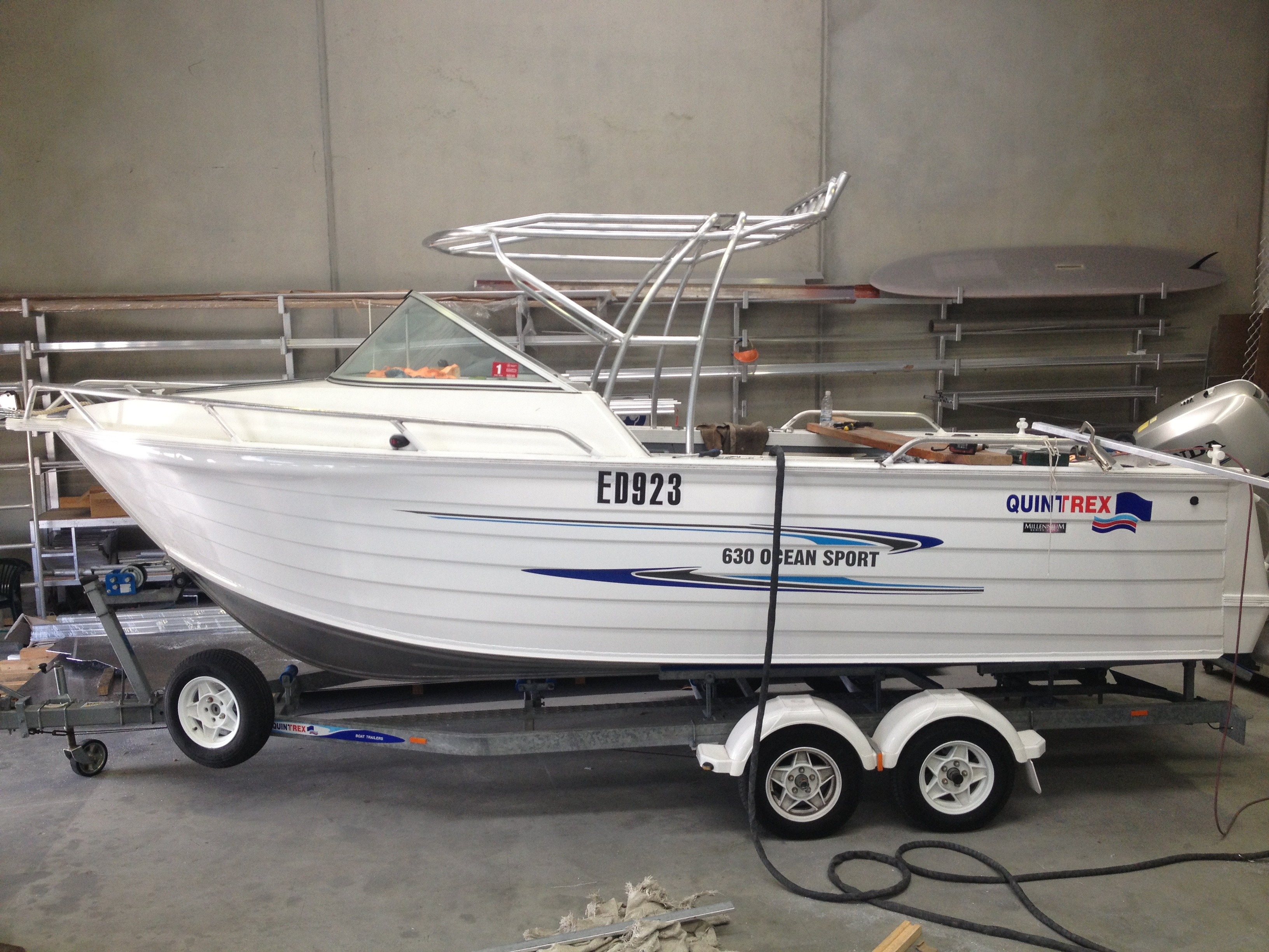 Rolled free standing canopy & Great Racks for Boats | Great Racks