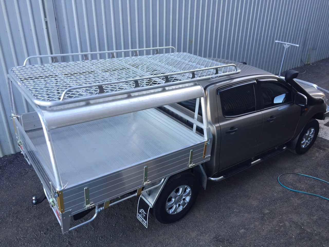 Ranger dual cab tray back & Roof Rack | Wide Range | Great Racks