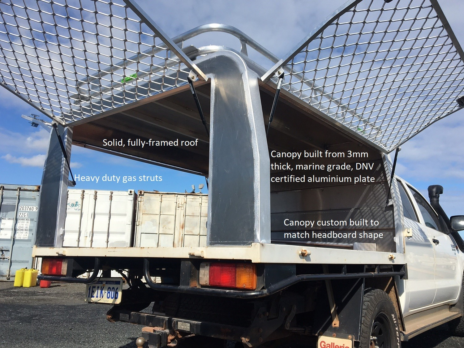 Hilux dual cab tray back & Aluminium Canopy Perth | Great Racks
