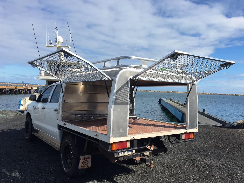 Aluminium Ute Canopy Hilux Dual Cab Tray Back