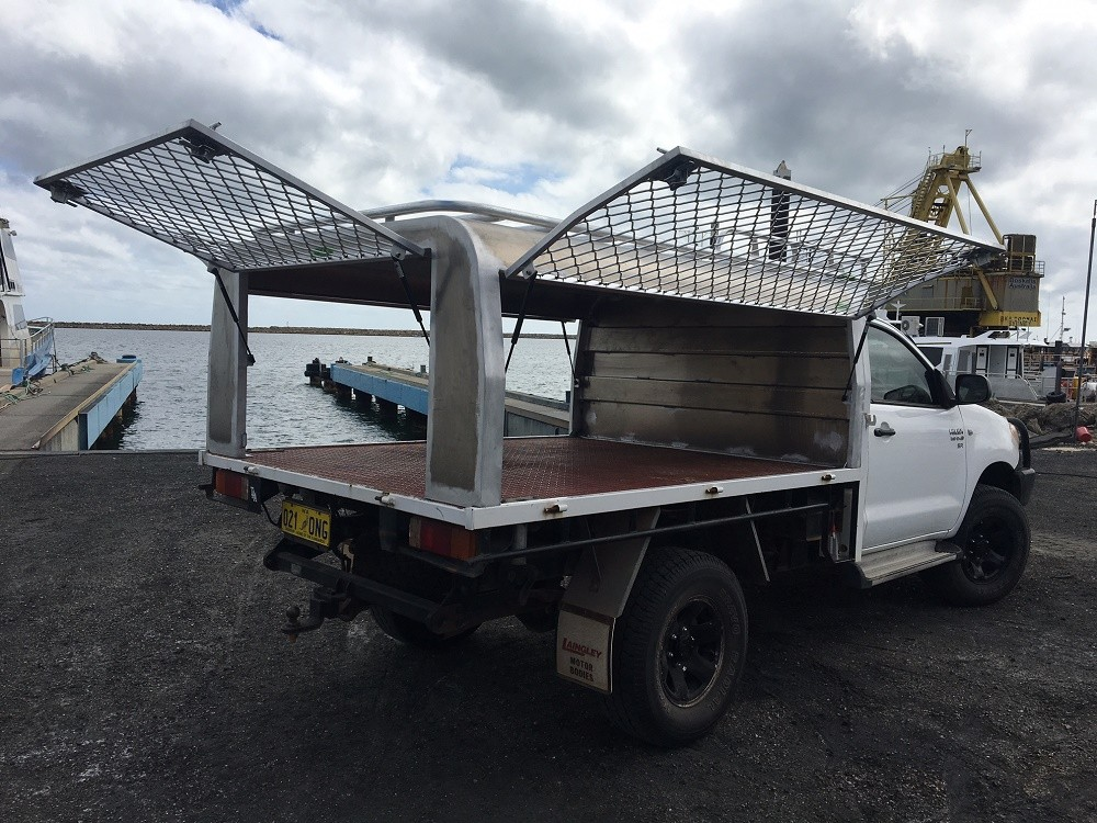Hilux single cab tray back & Aluminium Ute Canopy Perth | Great Racks