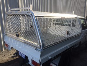 Landcruiser single cab tray back