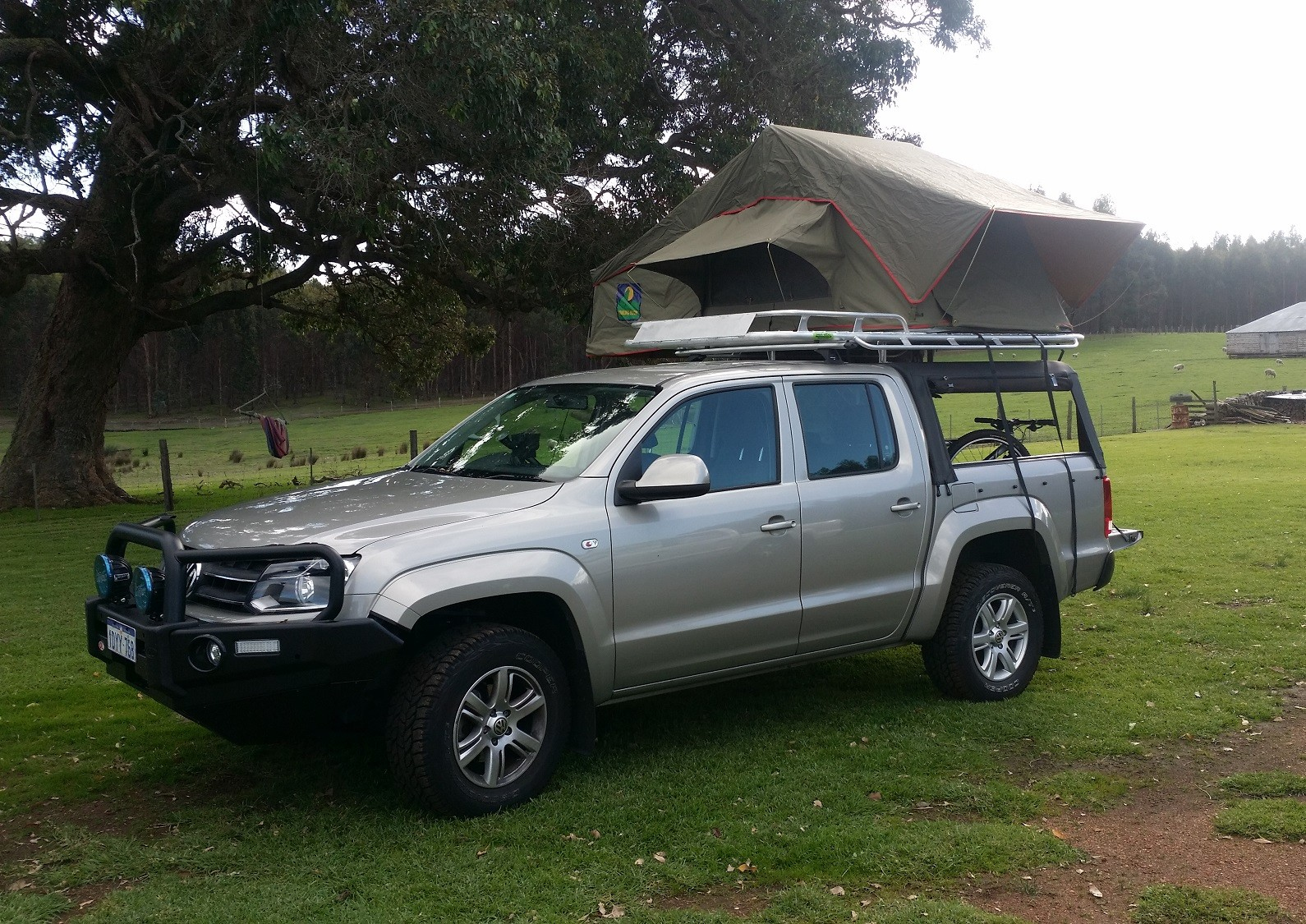 Amarok dual cab well body & Canvas Canopies Perth | Canopy Roof Racks | Great Racks