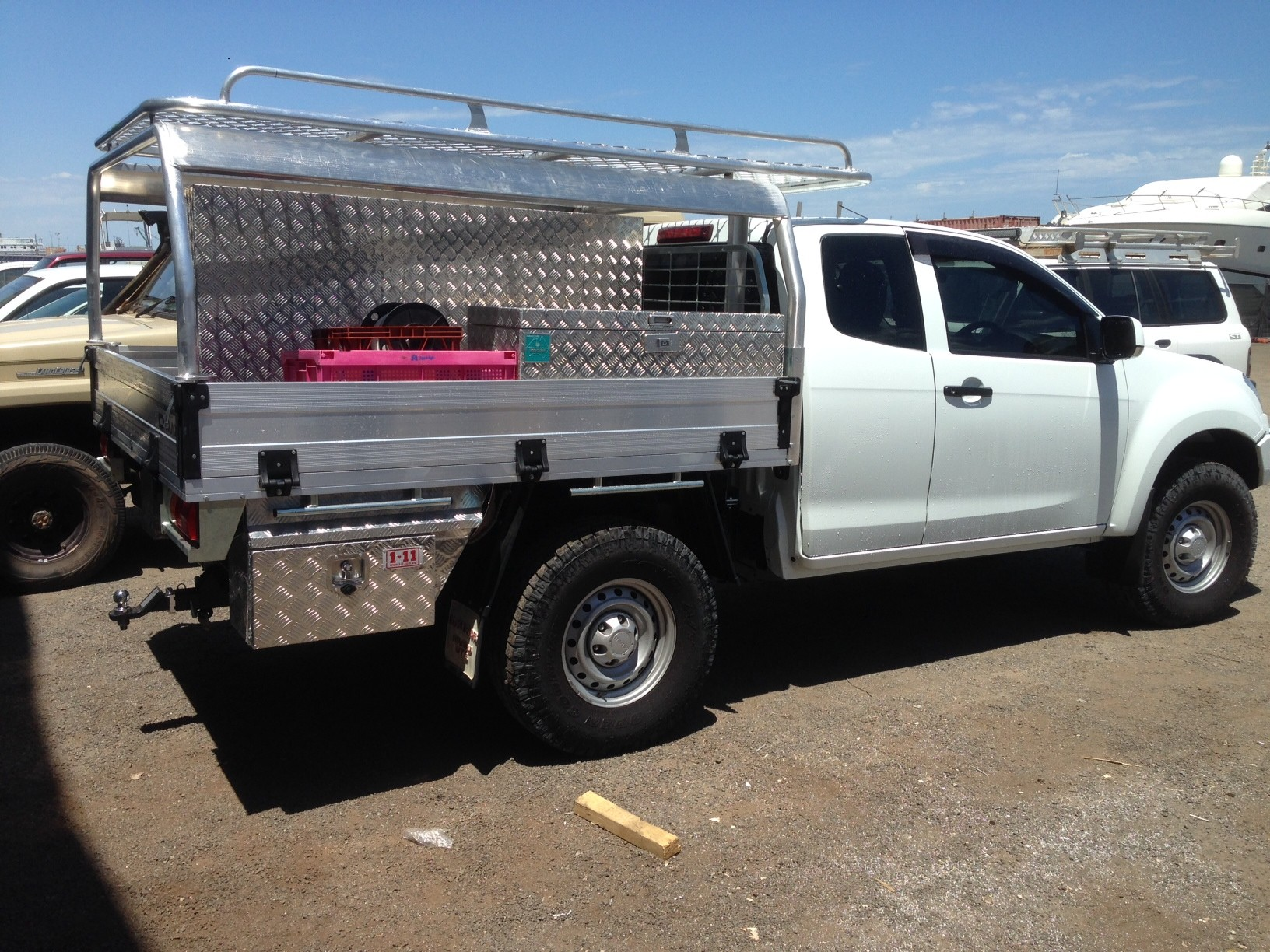 Isuzu DMax space cab tray back & Canvas Canopies Perth | Canopy Roof Racks | Great Racks