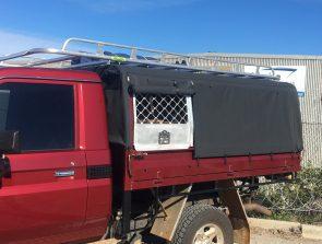 Landcruiser single cab tray back