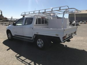Holden Colorado dual cab tray back
