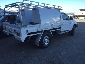 Holden Colorado single cab tray back