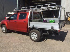 Isuzu DMax dual cab tray back
