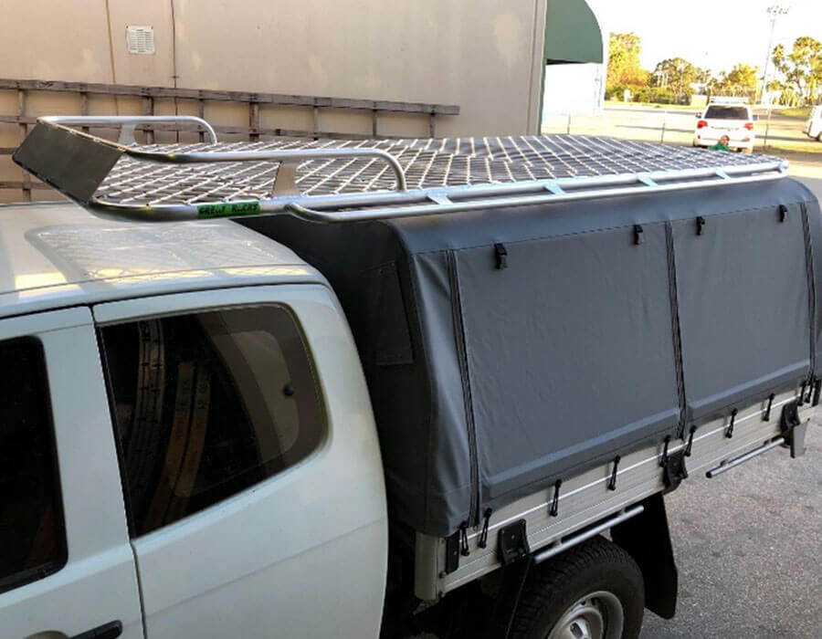 Designed to take a roof top tent and forward storage