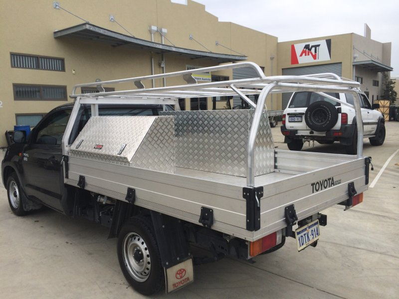 Tradesman Roof Rack On Single Cab Toyota Hilux Archives